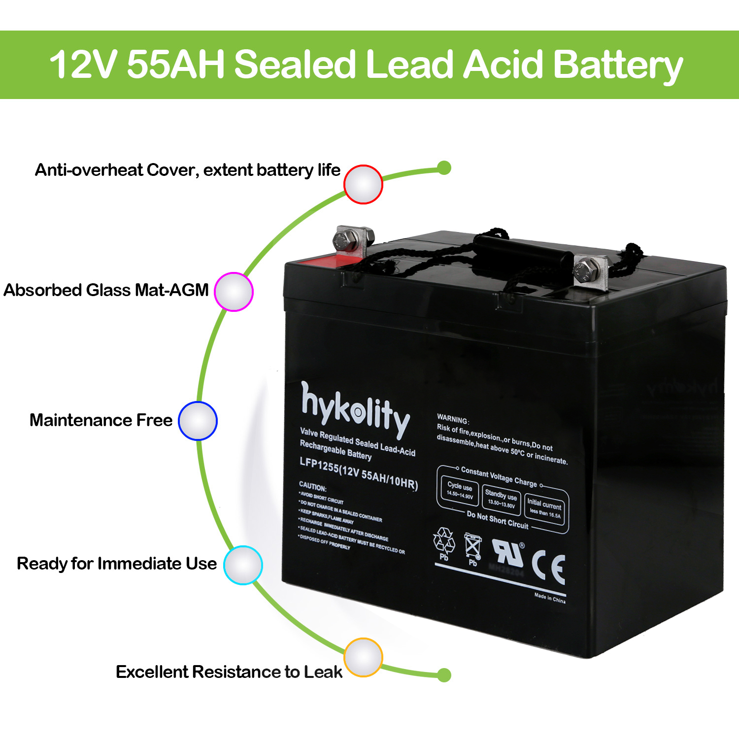 Details about 12V 55Ah SLA Battery for Minn Kota Endura Trolling Motor Deep  Cycle Battery