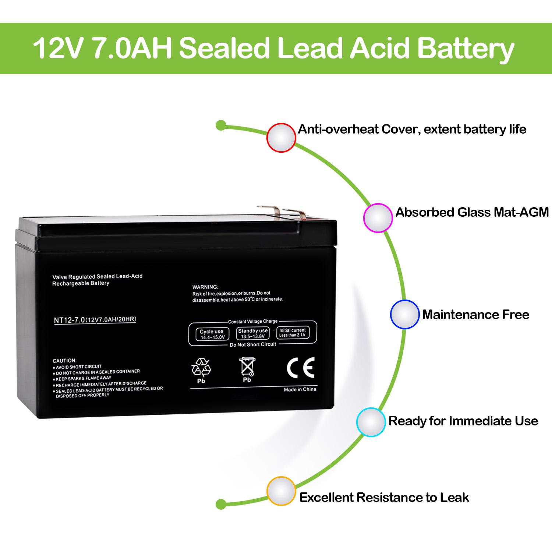 12v 7ah Sla Battery For Apc Rbc4 Rbc 4 Rbc6 6 D5775 Bp1000 Circuit Design Charger Sealed Lead Acid Replaces Ub12120
