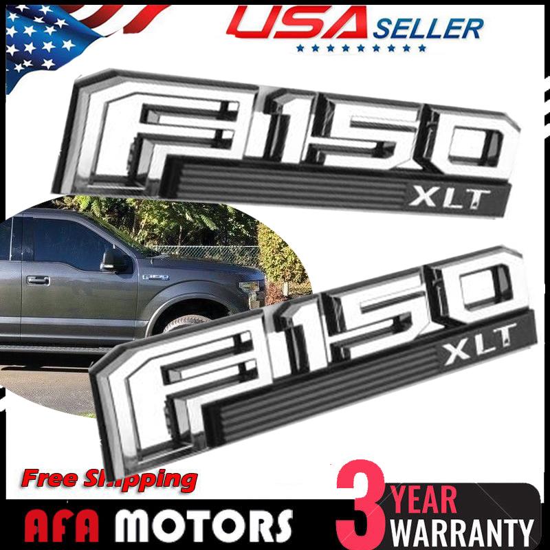"OEM NEW Front Fender Emblem Left Driver/'s Chrome /""F-150 XLT/"" FL3Z-16720-D"