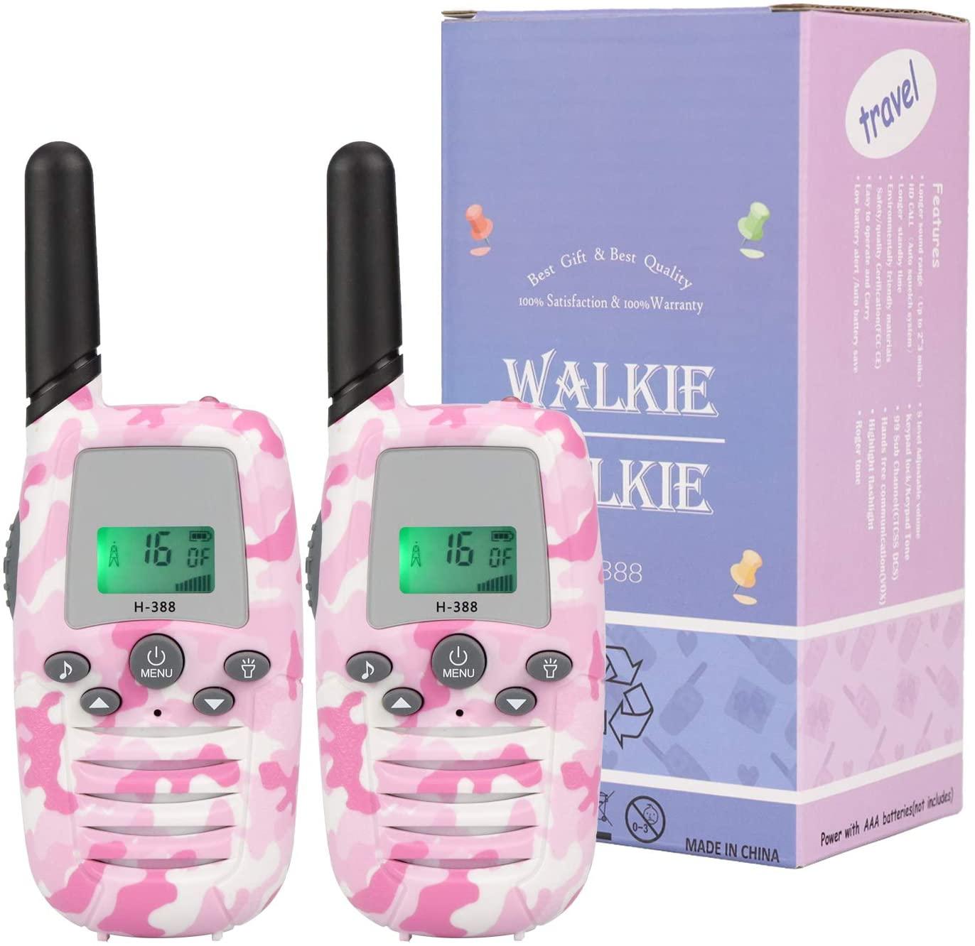 1 Pair Blue BenRich Kids Walkie Talkies Rechargeable Mini 2 Way ...