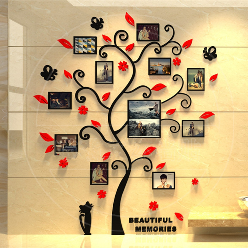 3D Photo Frame Family Tree DIY Wall Decal Stickers Living Room ...