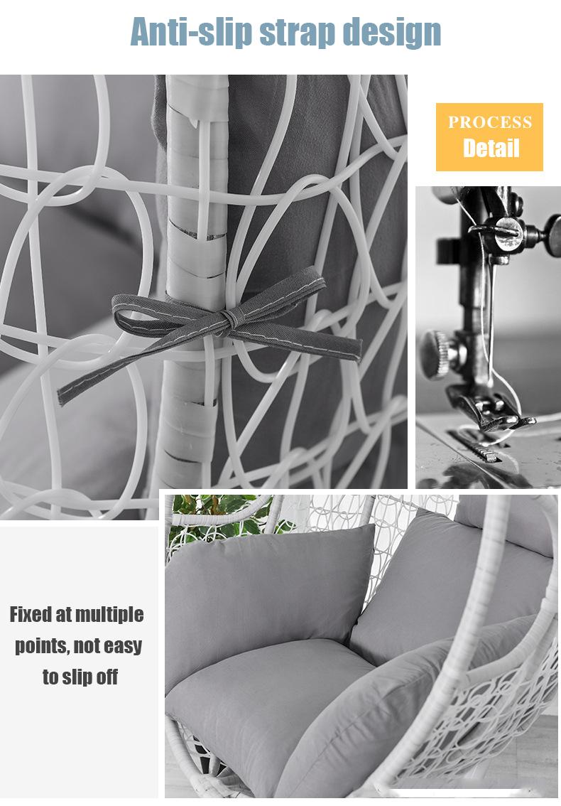 6D Hängesessel Sofa Chair Cushion Durable Anti-Rutsch Cushion Kissen Stuhlkissen