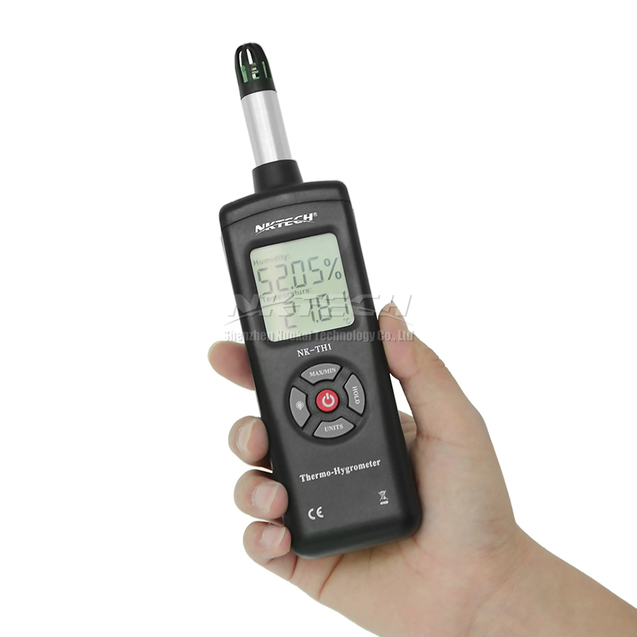 NKTECH NK-TH2 Temperature Humidity Meter Dew Point –30~100℃ Wet Bulb Handheld