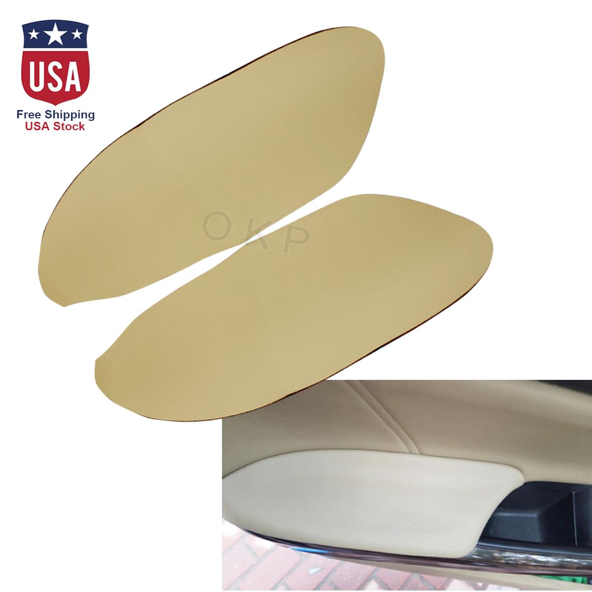 Complete Door Panel Armrest Leather /& Back Plate for Honda Accord 2008-12 Black