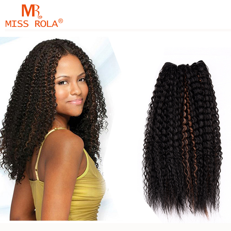 1pc 18 Sew In Ombre Hair Weave Curly Synthetic Hair Weave Extension