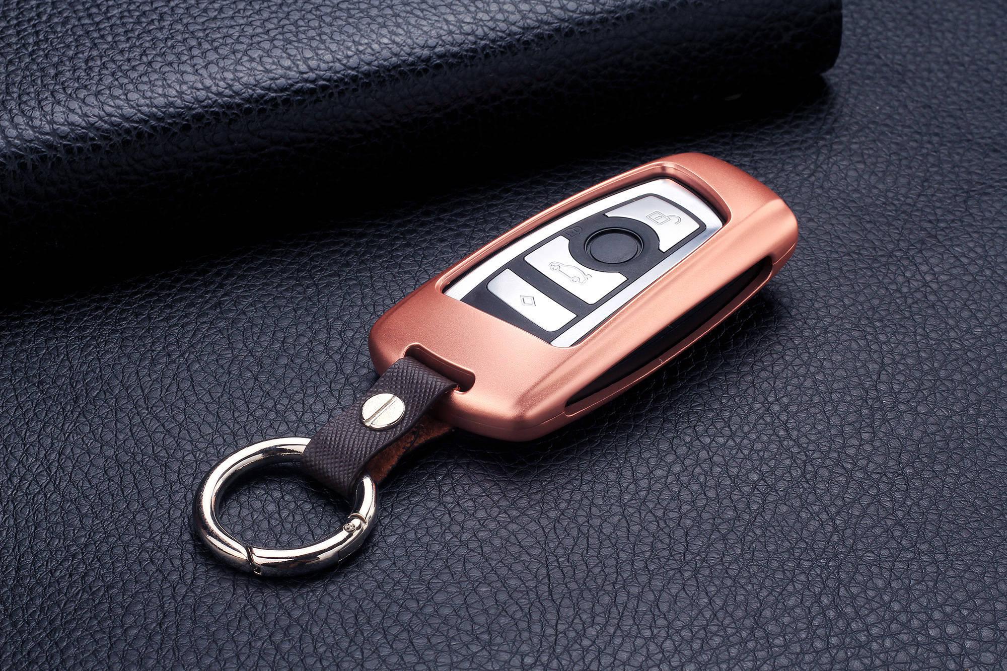 For BMW Car Key Fob Case Cover Keyless Entry Aluminum Genuine