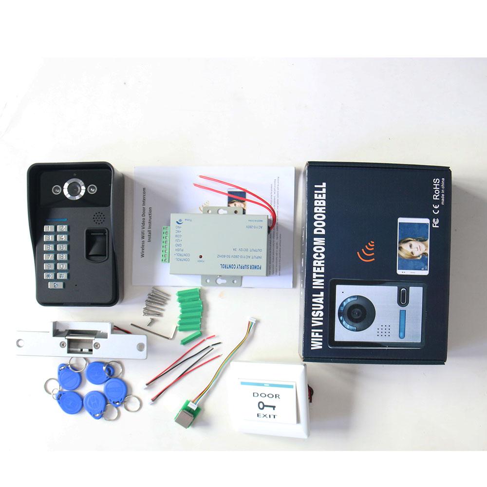 Wireless Wifi Password Video Door Phone Doorbell Intercom