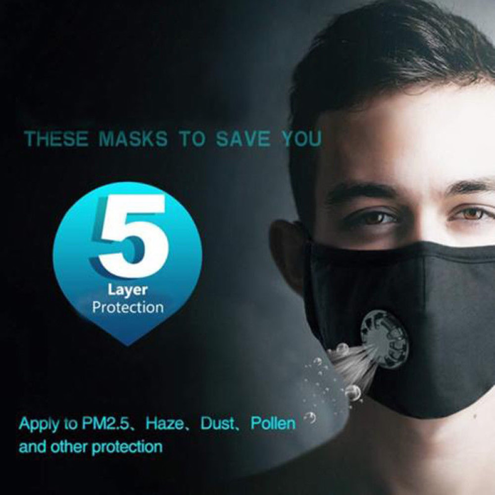 Washable Reusable Pm2 5 Anti Air Pollution Face Msak With Respirator 36 Filters Ebay