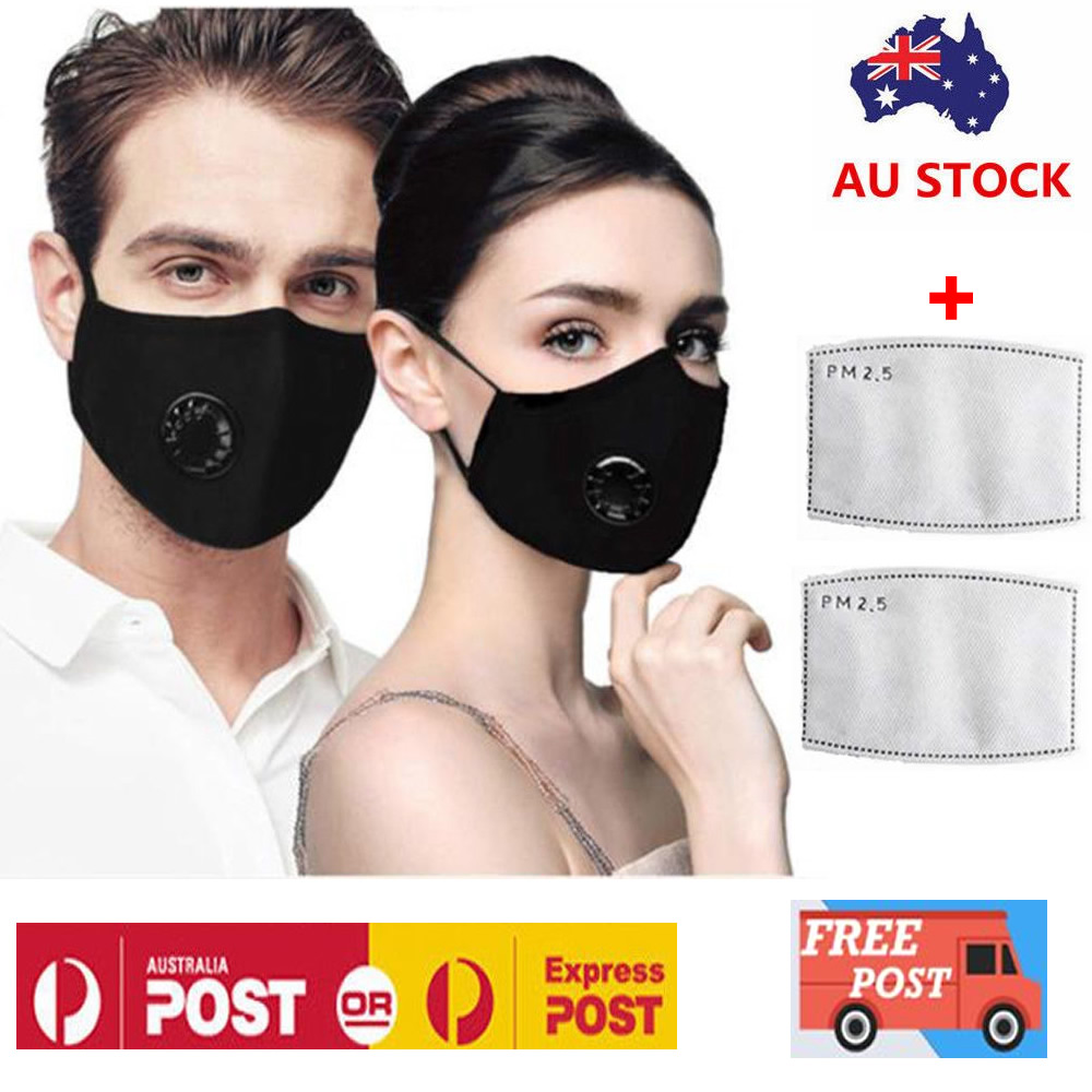 Washable Reusable Pm2 5 Anti Air Pollution Face Msak With Respirator 2 Filters Ebay