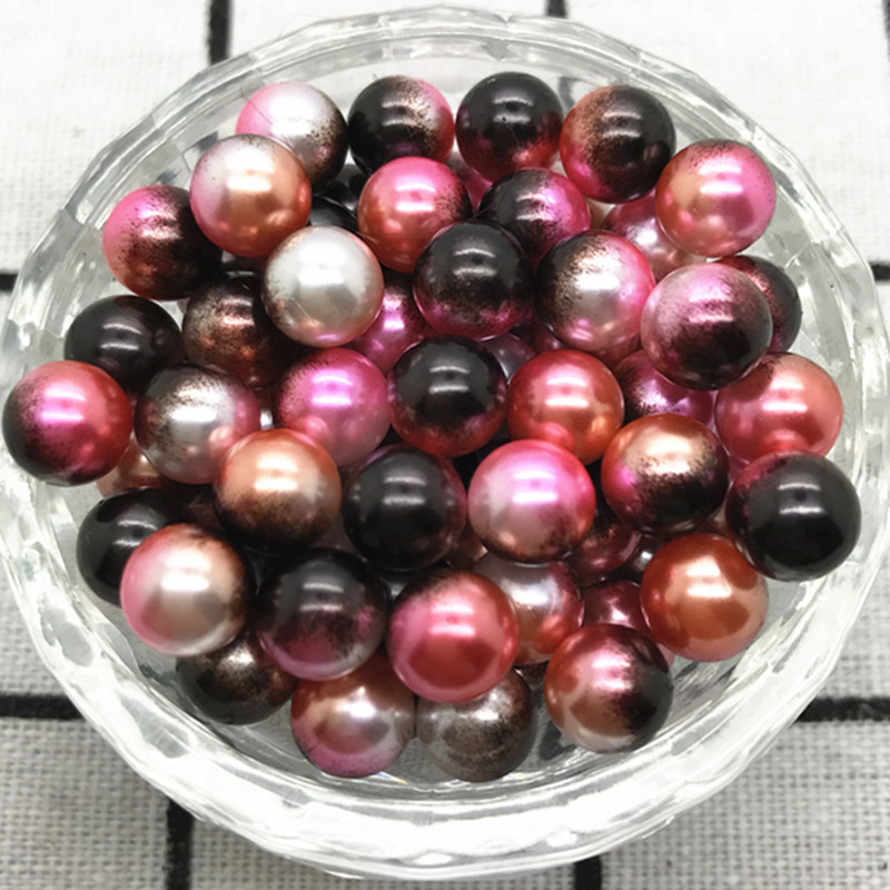 6MM 8MM 10MM DOUBLE COLOUR OR SINGLE PINK COLOUR BEADS FOR JEWELLERY MAKING