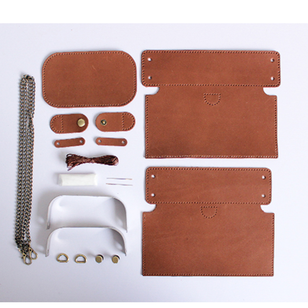 DIY Portfolio Leather Craft Hand Wallet Unprocesse Template Material Set