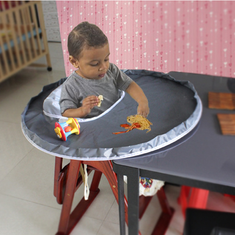 New Baby High Chair Mat Waterproof Feeding Eating Round Fold Infants ...