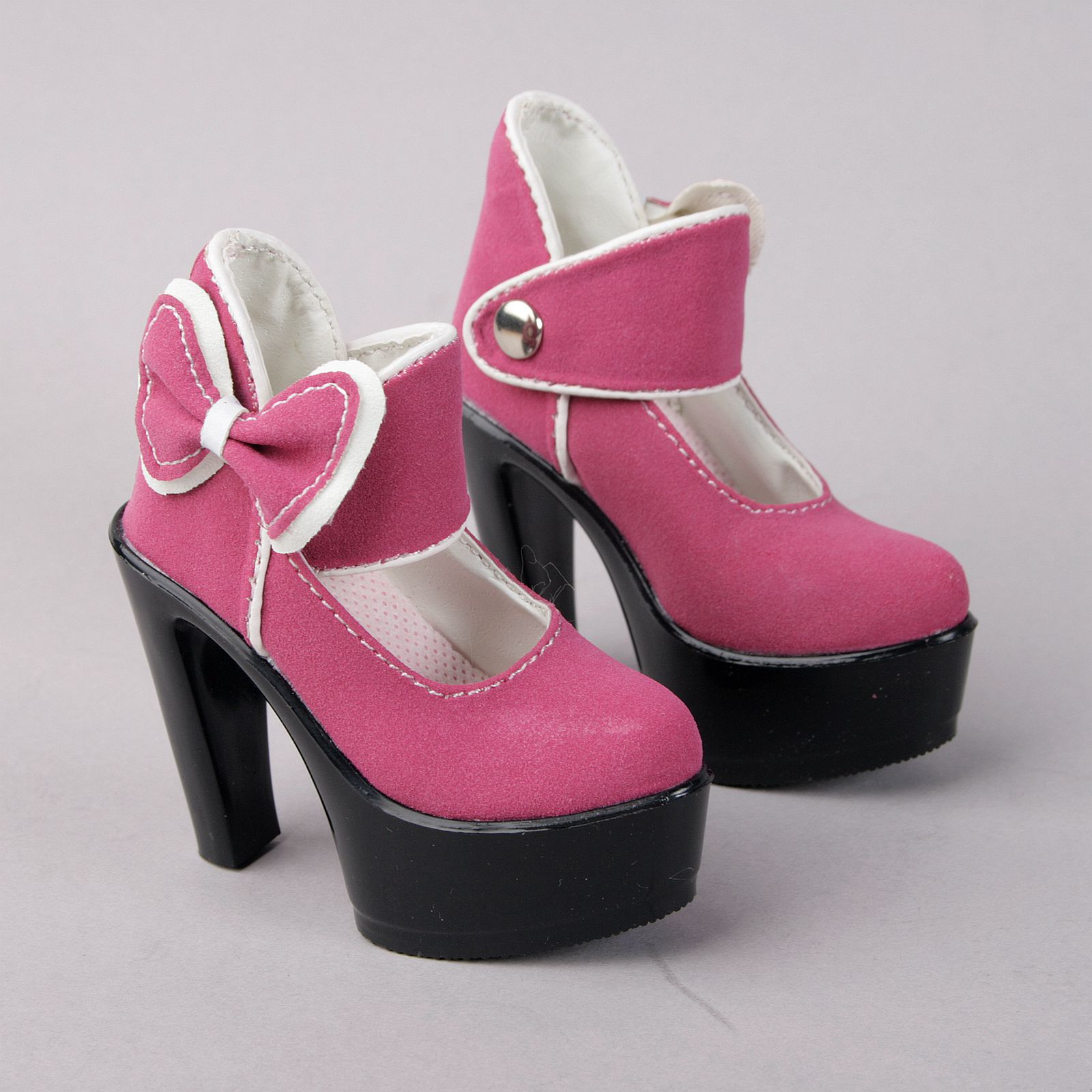 PF 33# White Bow High Heels For 1//3 SD DZ AOD BJD Dollfie