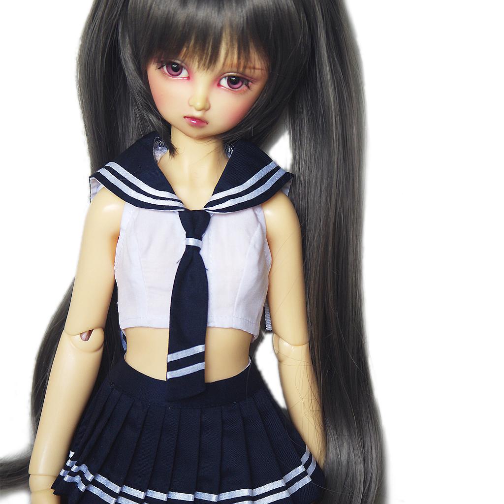 wamami 251# Black Sailor Dress//Suit//Outfit 1//4 MSD AOD DOD BJD Dollfie