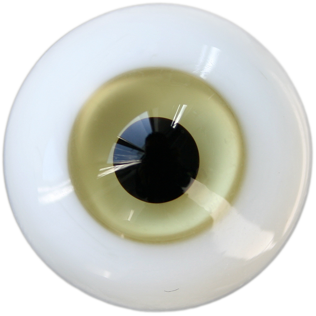 wamami 12mm White Glass Eyes Outfit Black Pupil For BJD Doll AOD Dollfie