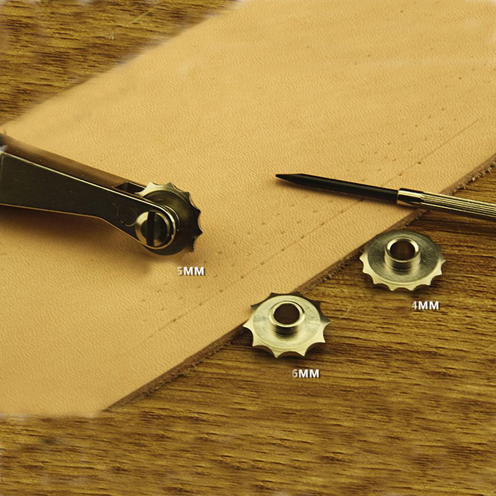 Craft Sha Leathercraft Leather Stitching Roulette Spacer Set w// Overstitch Wheel