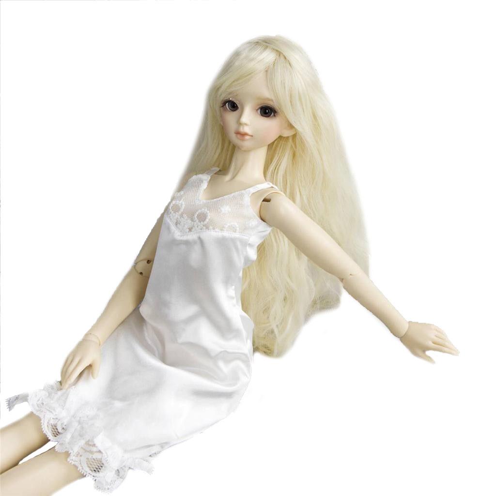 PF 130# White Dress//cloth 1//4 MSD DOD AOD BJD Dollfie