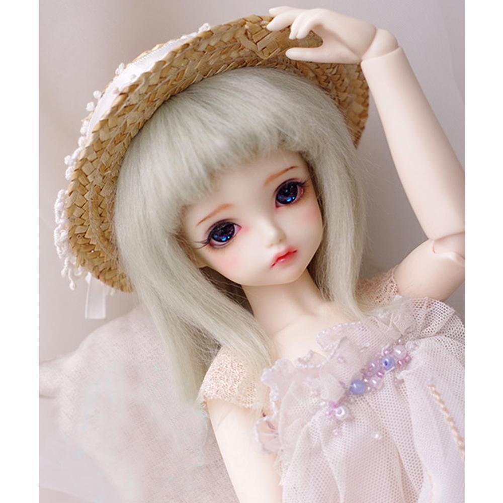 Dark Brown Short Wool Wig For SD AOD DZ 1//3 BJD Dollfie 22-23cm PF