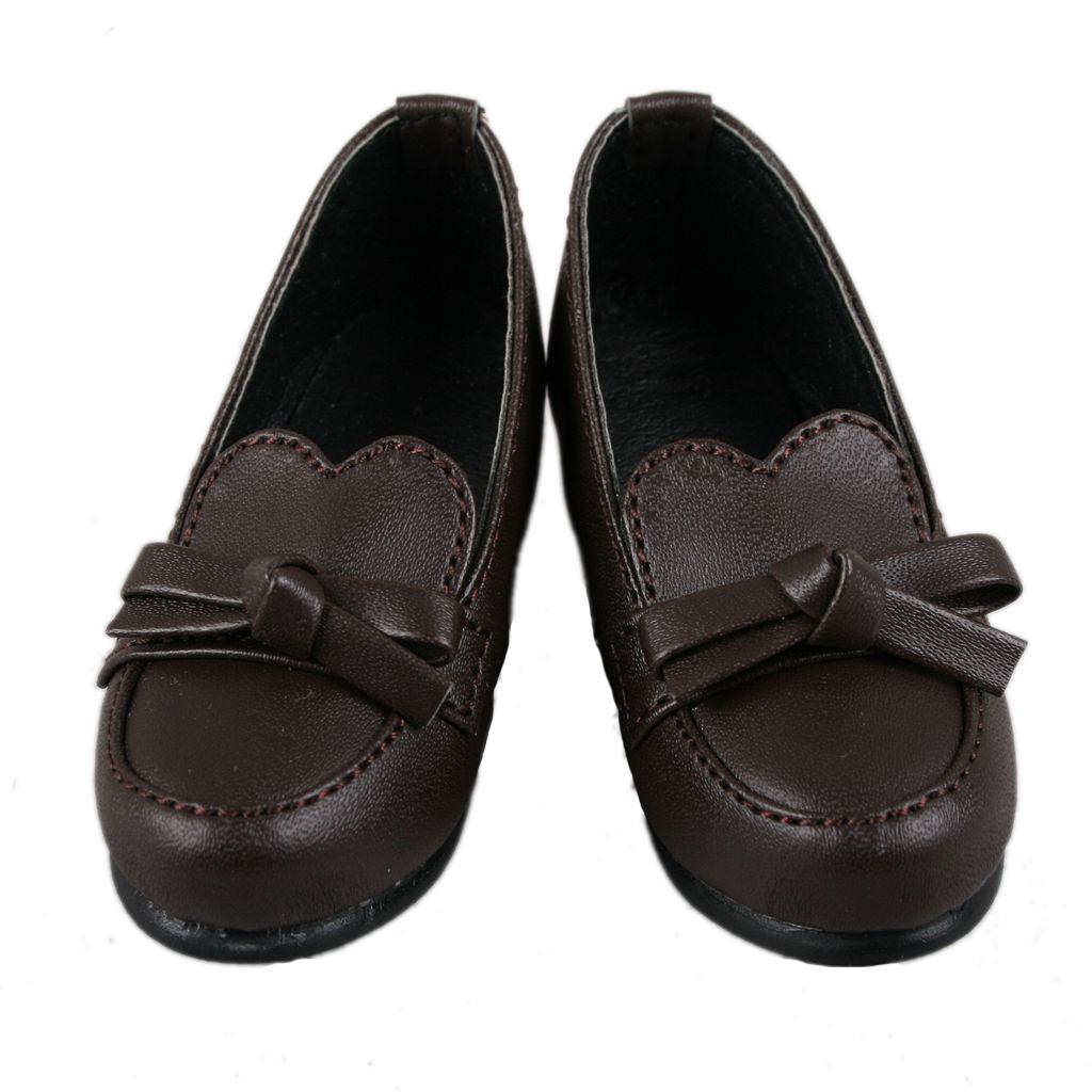 PF 122#1//5 Dark Brown Bow Cute BJD Loli SD DOD LUTS AOD Dollfie Doll Shoes