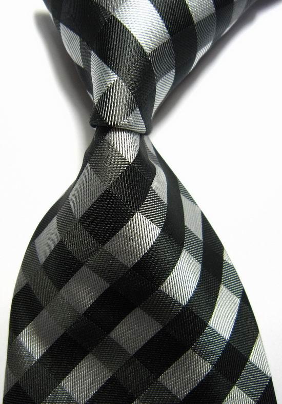 Classic Striped Pink Black JACQUARD WOVEN 100/% Silk Men/'s Tie Necktie Hot