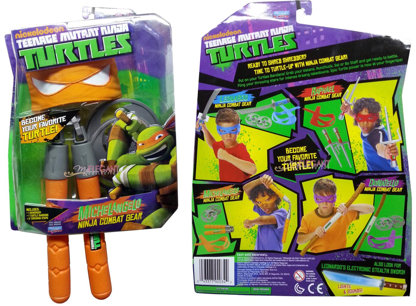 TMNT Teenage Mutant Ninja Turtles Michelangelo Bat Gear Nunchuck