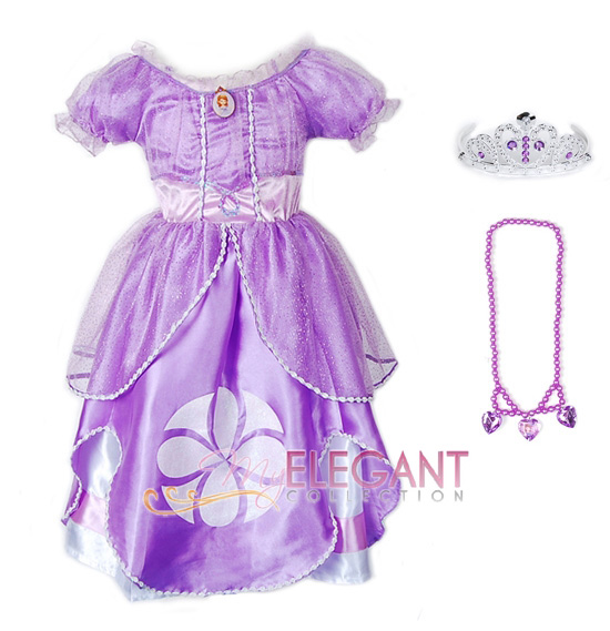 Disney Sofia The First Princess Children Girl Gown Party Costume ...