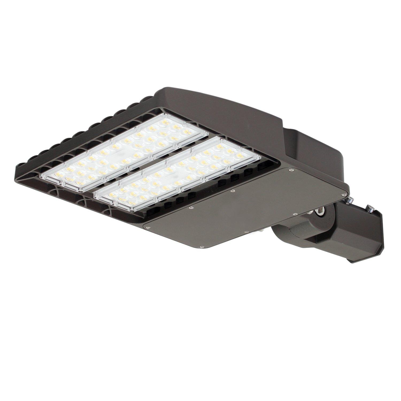 Universal Mount Slip Fitter Adjustable 240W LED Pole Light w//Photocell Sensor