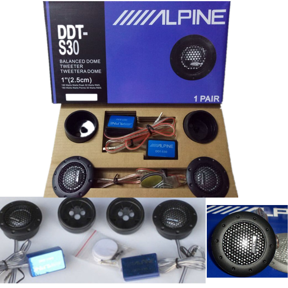 Details about ALPINE DDT-S30 Car Stereo Speakers Music Soft Dome Balanced  Car Tweeters 360W