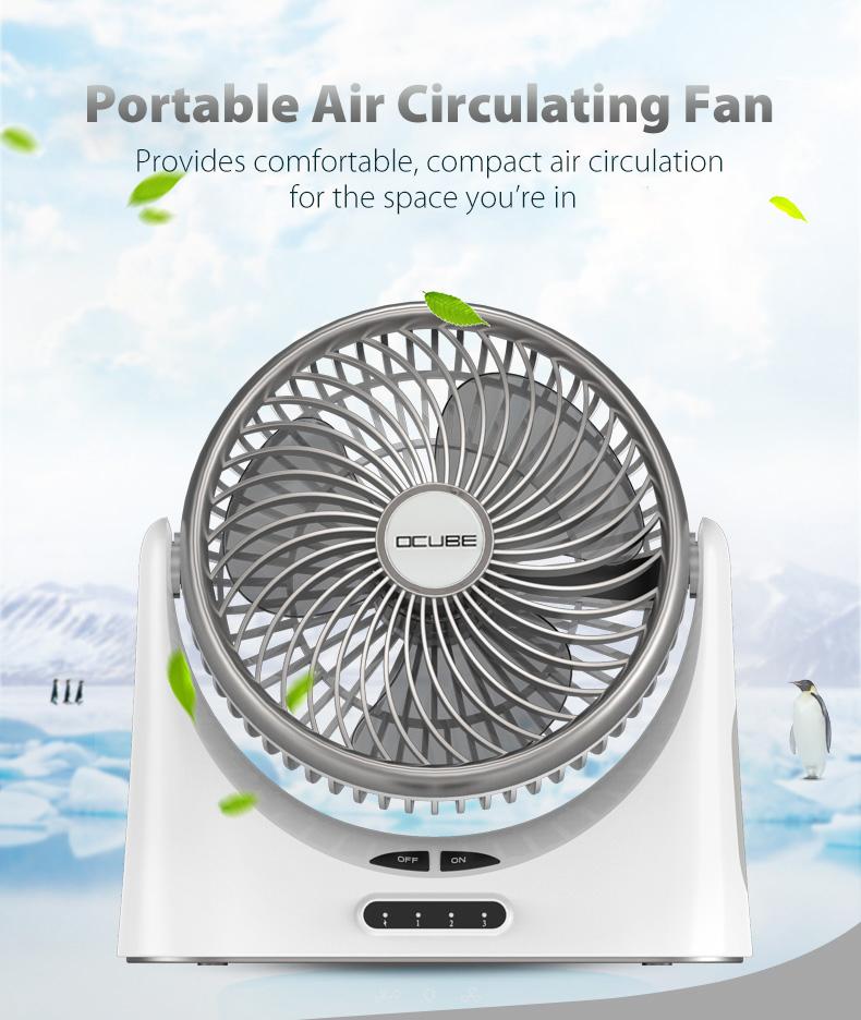 Air Cooling Fan USB Fan Mini Desktop Plastic Small Fan Portable Gentle Wind Electric Fan