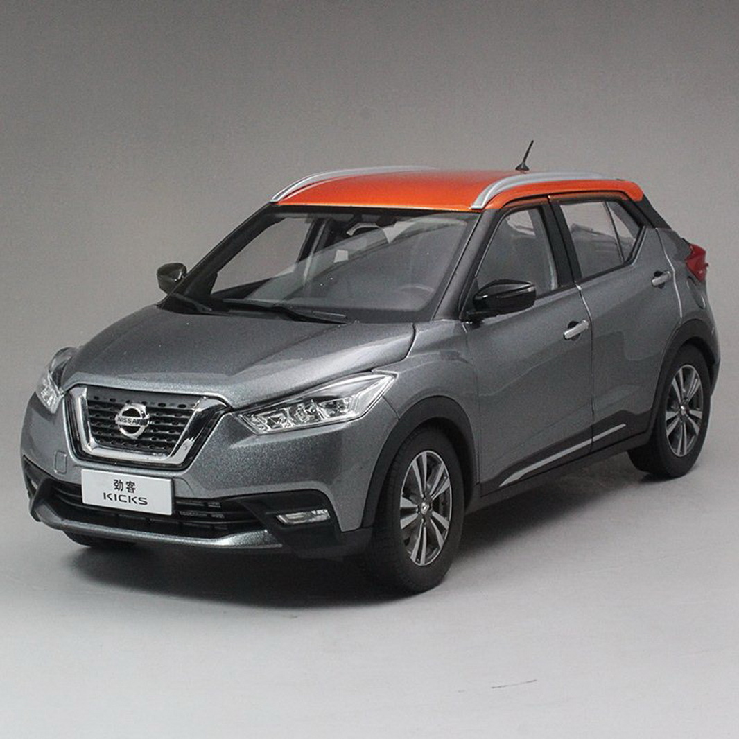 1//18 Scale Nissan 2017 Kicks Gray//Orange Diecast Model Car Toy Collection