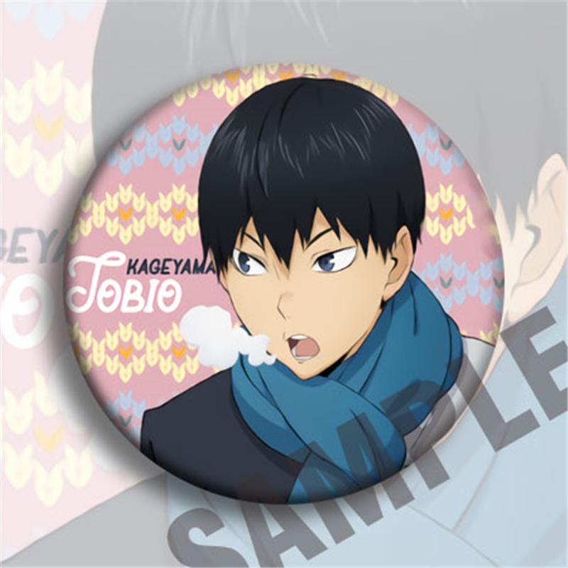 Anime Haikyuu Hinata Shoyo Cosplay Badge Cartoon Bags Button Clothes Brooch Pins