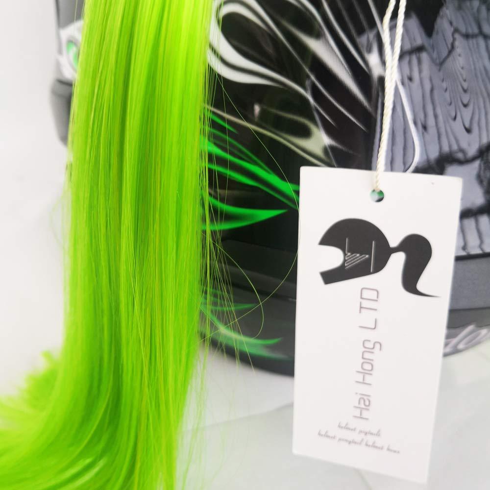 """Helmet Pigtails Gradient Ramp Helmet Braids Ponytail Helmet Hair 24/"""" Neon Green"""