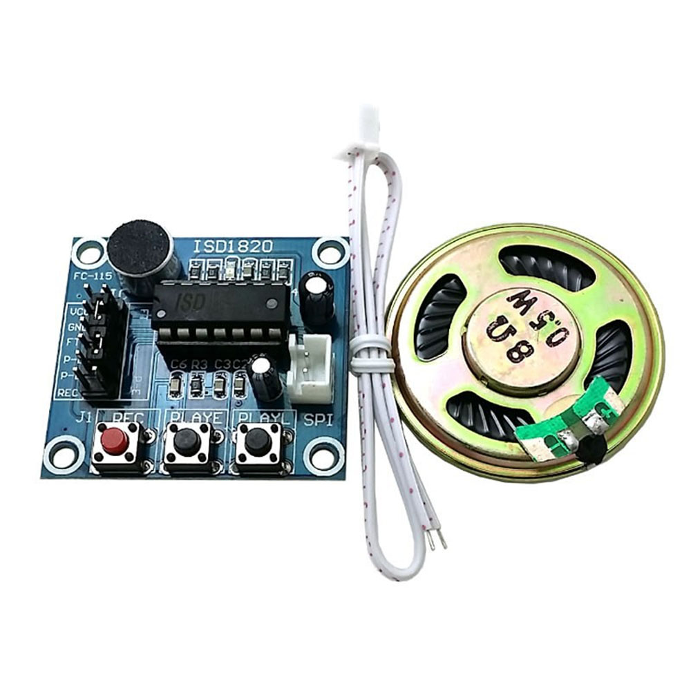 1pc Isd1820 Sound Recorder Board Loudspeaker Voice Recording And Playback Circuit Module