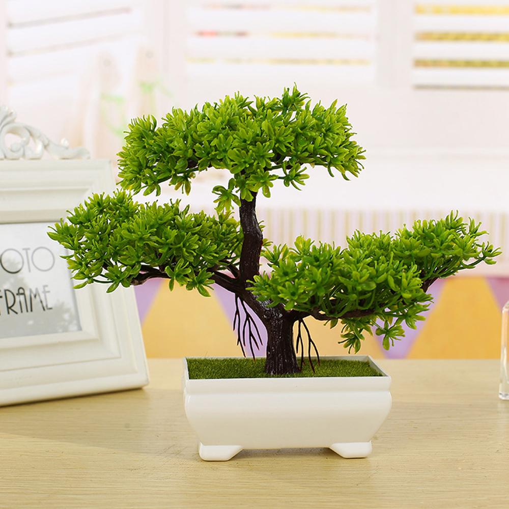 office bonsai. Mini-Artificial-Pine-Bonsai-Tree-Flower-Pot-Plant- Office Bonsai N