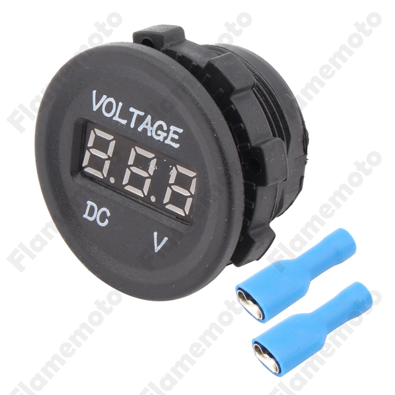12v 24v Car Motorcycle Led Digital Display Voltmeter Voltage Meter Besides Dc Circuit Waterproof