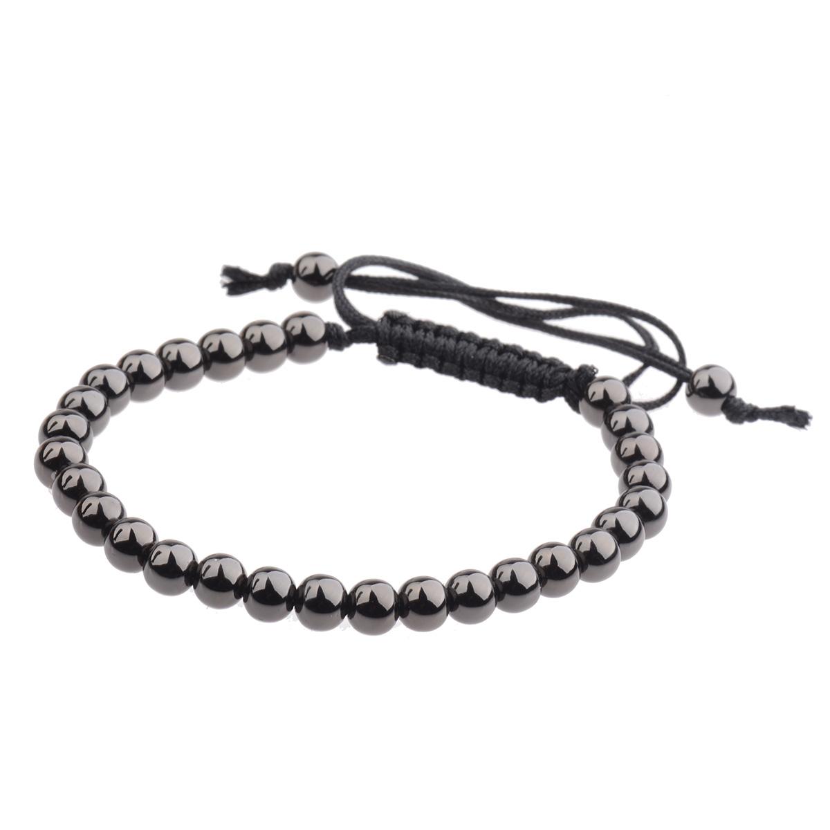 Fashion-Mens-Bracelet-24kt-Gold-Plated-Micro-Pave-Zircon-Macrame-Bracelets-6MM thumbnail 16