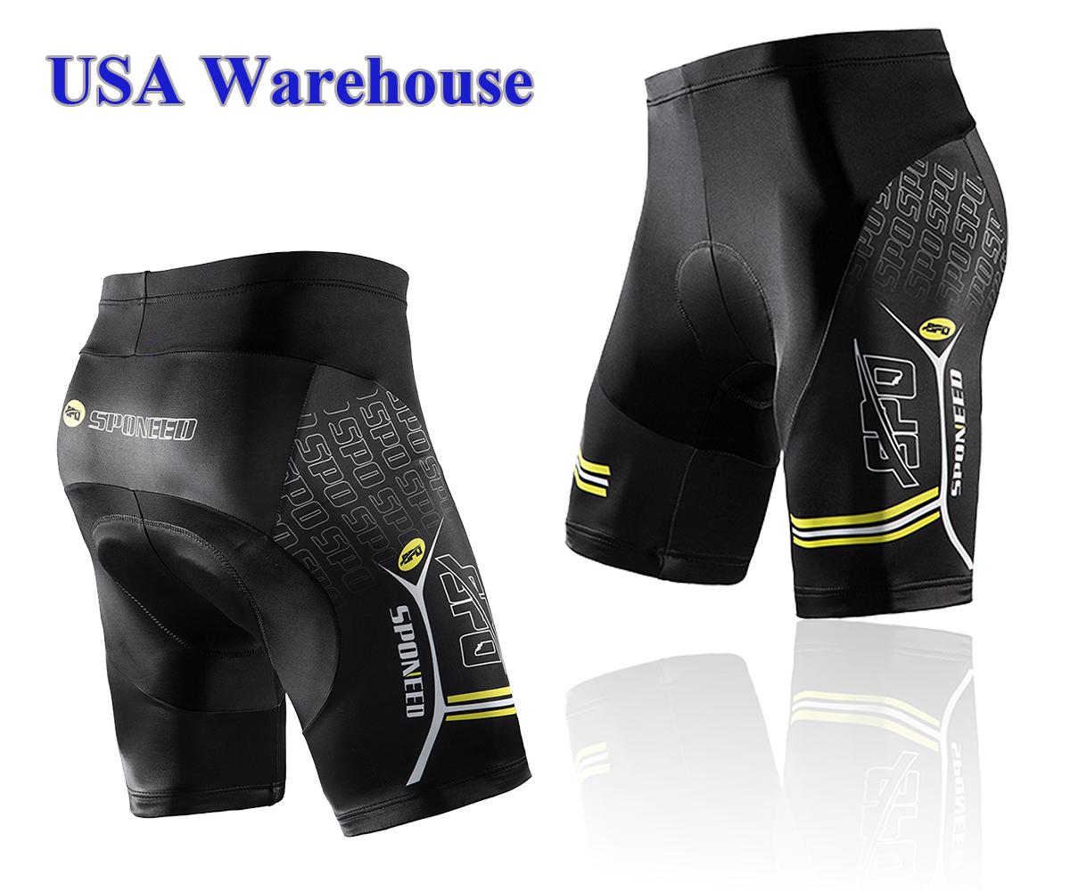 Men/'s Bicycle Cycling Shorts 4D Padded Bike Shorts 1//2 short Pants Tights S-3XL