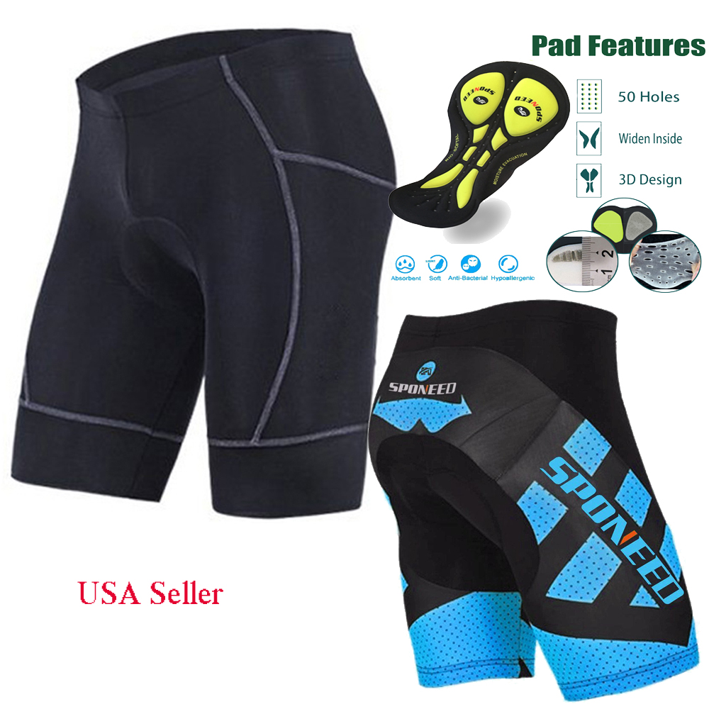 Bicycle Shorts for Men Anti-slip Bike Short Leggings Cycle Biker Wear Quick Dry