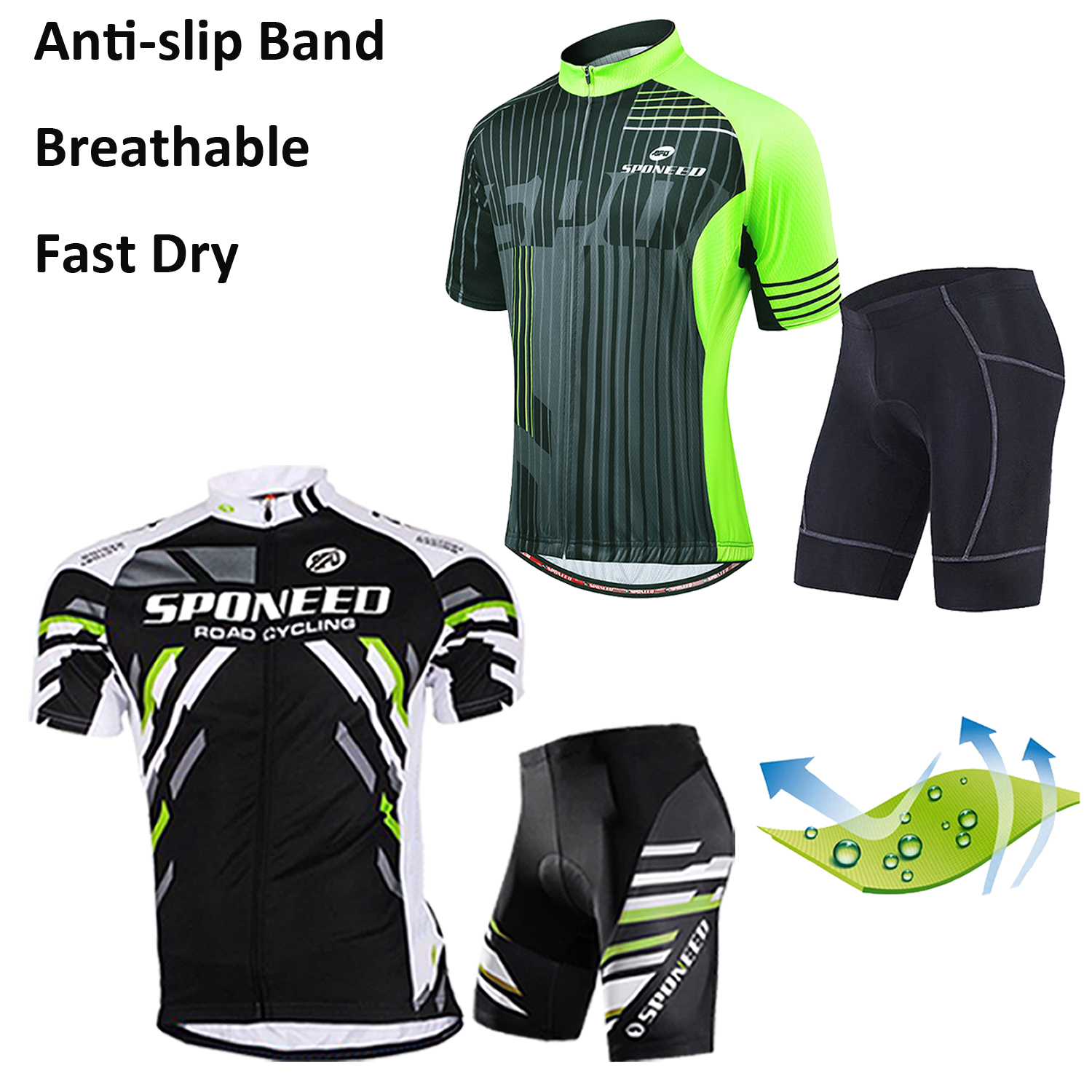 Mens Road Bike Jersey Men/'s Full Zipper Bicycle Shirt Short Biking Apperal M-3XL