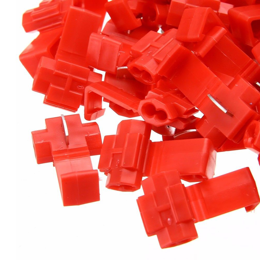 125X ALL SIZES Quick Splice Tap Wire Connectors 12-10 16-14 22-18 Gauge RED/&BLUE