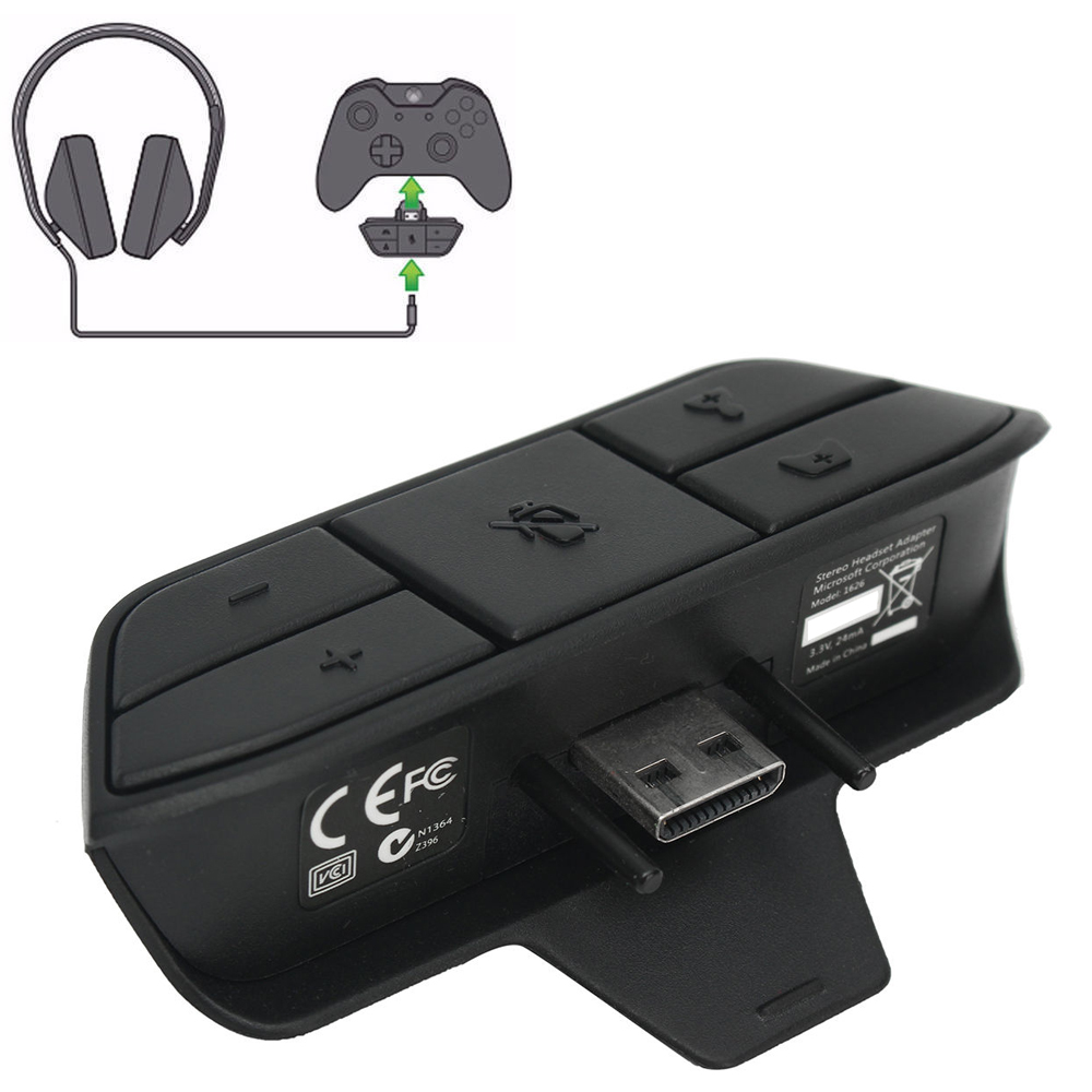Details about Stereo Headset Controllers Adapter Headphones Game Adapters F  Xbox One HOT SALE