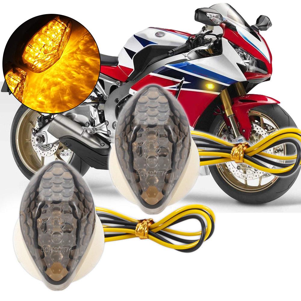 Motor Smoke LED Flush Mount Turn Signals Light For Honda CBR 600RR 1000RR F4 F4I