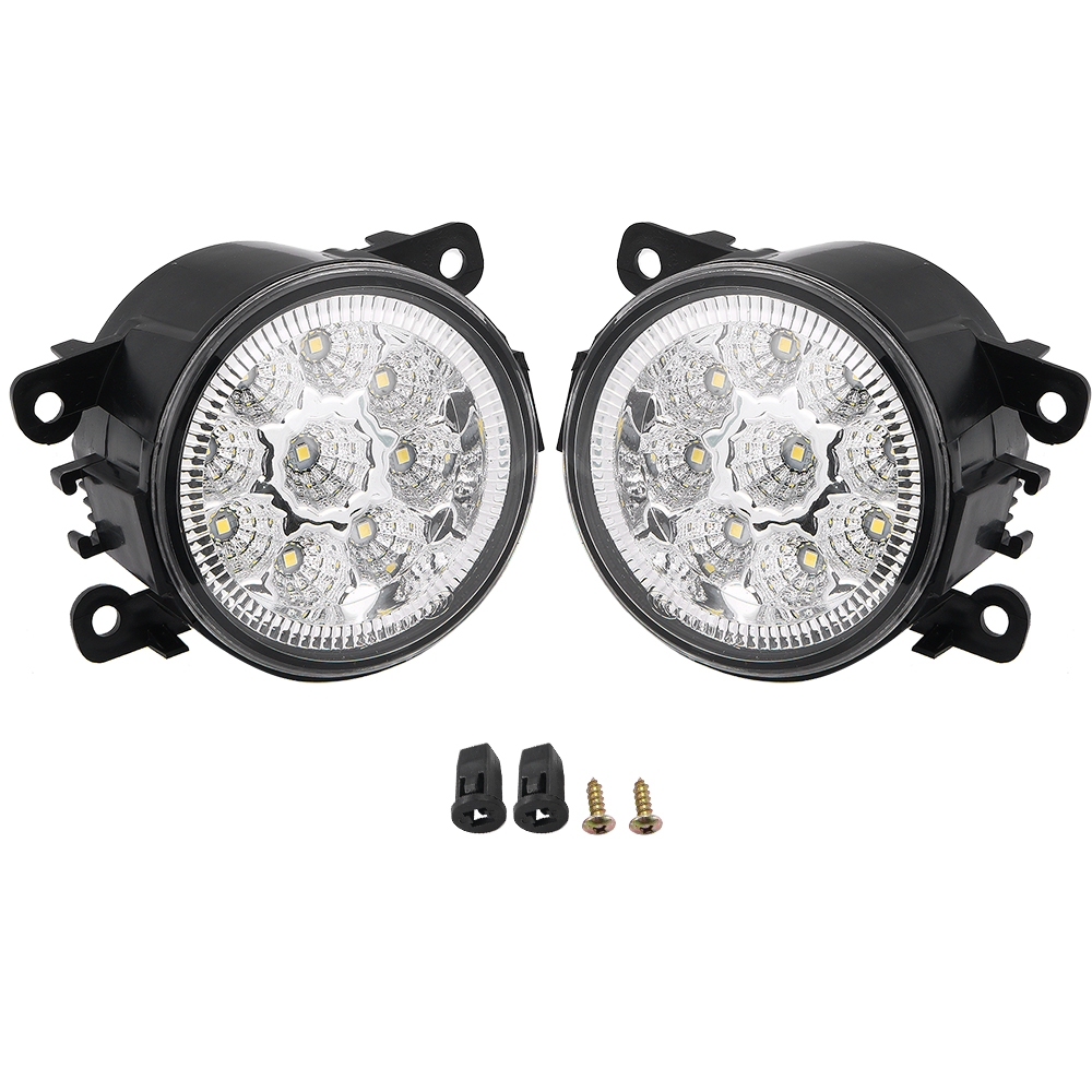 1 Pair 55W 9 LED Fog Light Fits Ford Explorer Focus Fusion