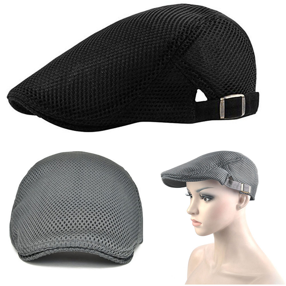 Boy/'s Mesh Breathable Summer Cap Adjustable Gatsby Newsboy Cabbie Beret Flat Hat