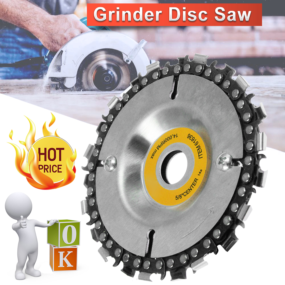 Angle Grinder Disc Tooth Fine Chain Saw 4/'/' For Carving Culpting Wood Plastics