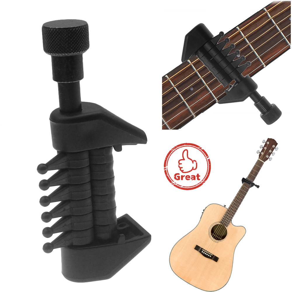 multifunction capo open tuning spider chords for acoustic guitar strings black 885921739730 ebay. Black Bedroom Furniture Sets. Home Design Ideas