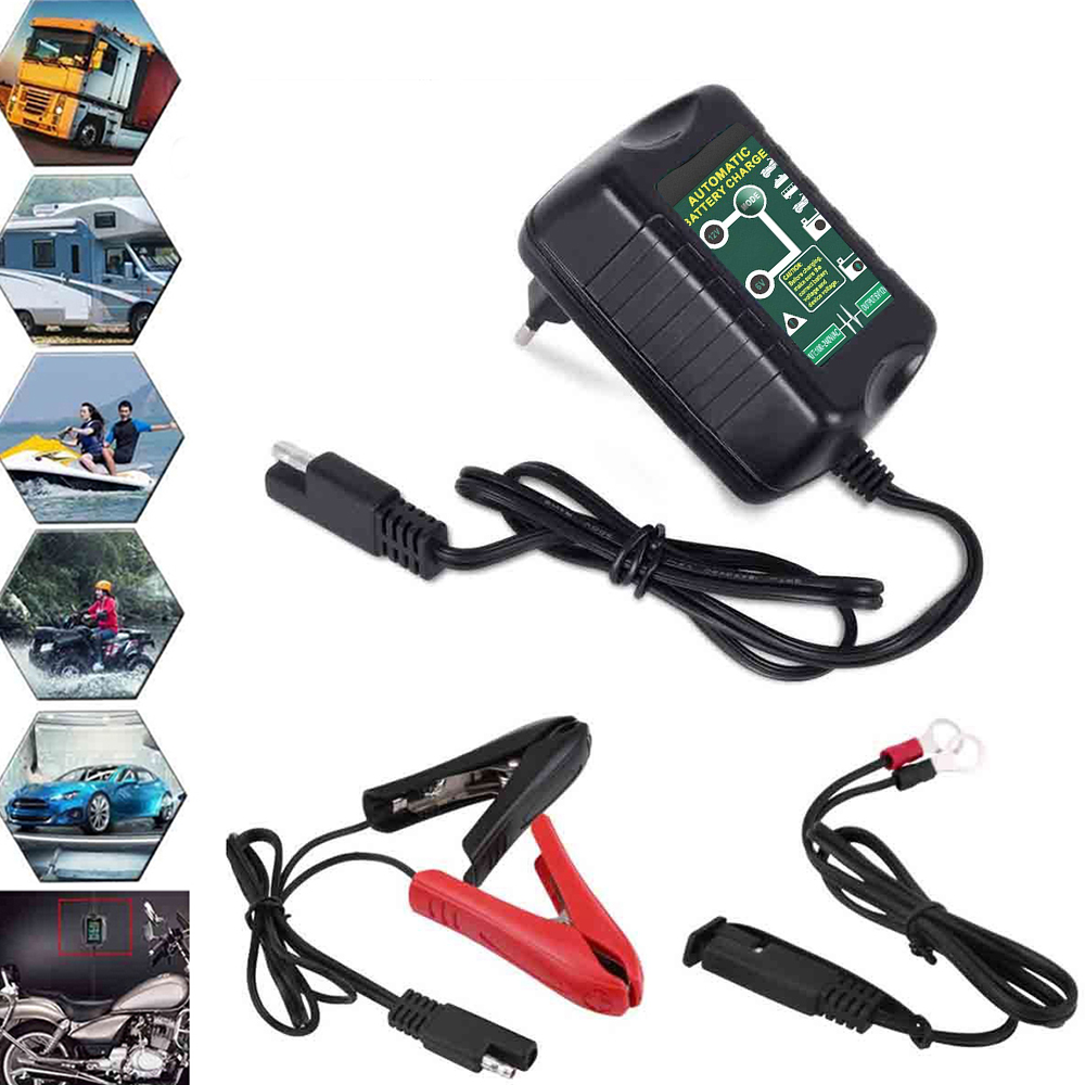 Details About Battery Charger Maintainer 6v 12v Amp Volt Trickle For Car Truck Motorcycle Fast