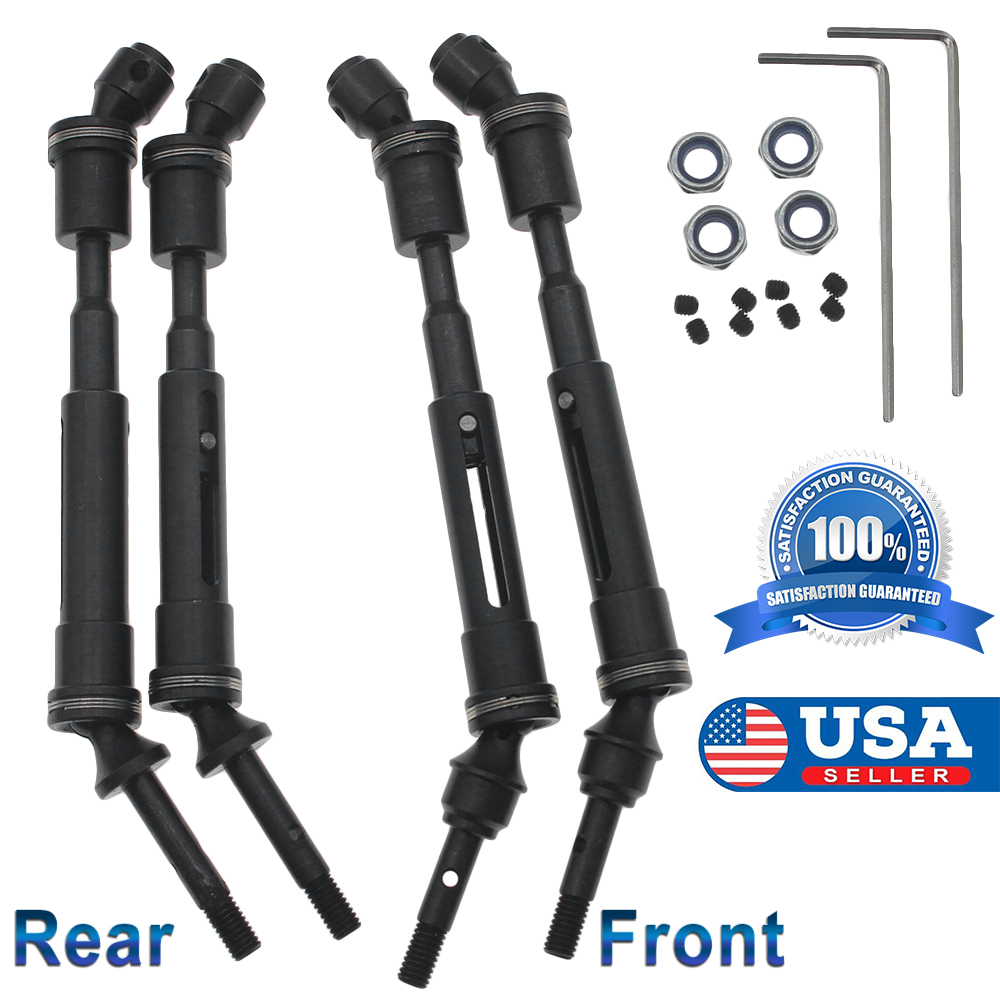 1 Front /& 1 rear drive shaft for 1:10 traxxas slash 4X4 short truck rc car In US