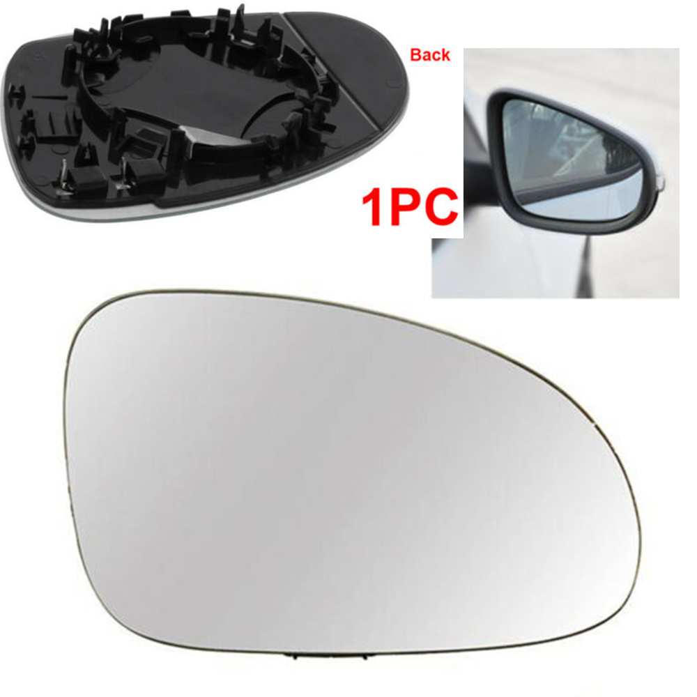 VW Polo Mk5 6R Hatchback 2009-/> Non-Heated Aspherical Mirror Glass Drivers Side