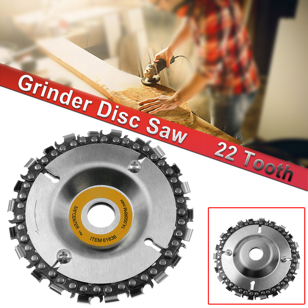 """4/"""" 100mmAngle Grinder Disc 22 Tooth Fine Chain Saw Carving Culpting Wood curved"""